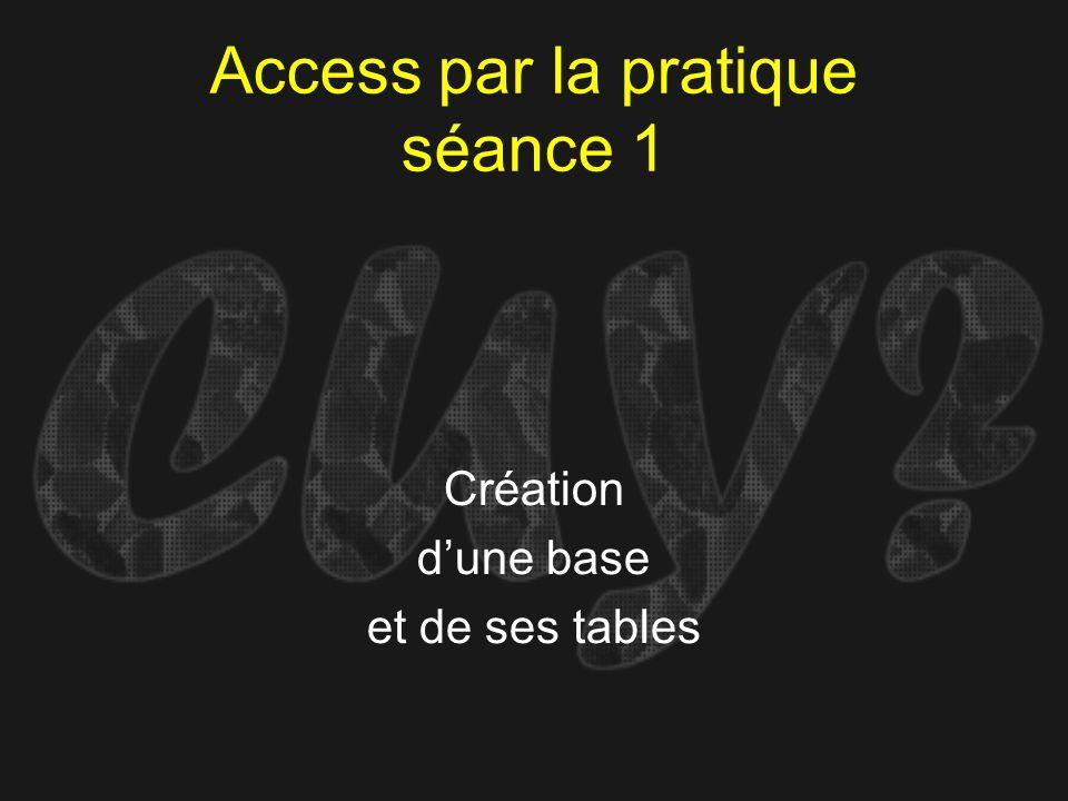 Access par la pratique séance 1