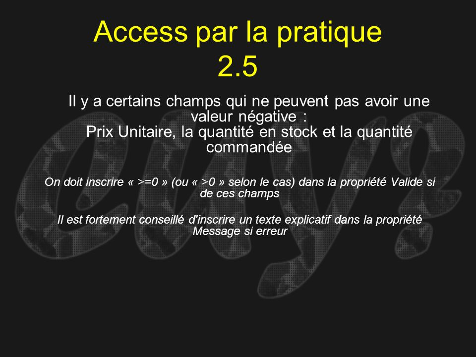 Access par la pratique 2.5