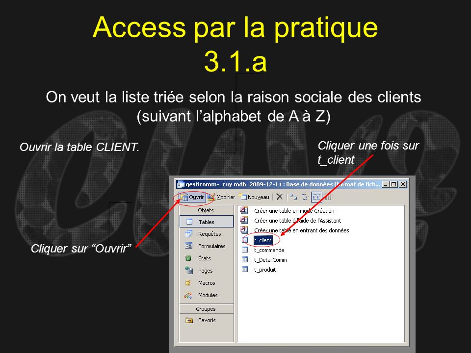 Access par la pratique 3.1.a
