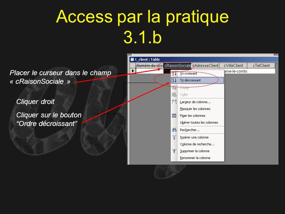 Access par la pratique 3.1.b