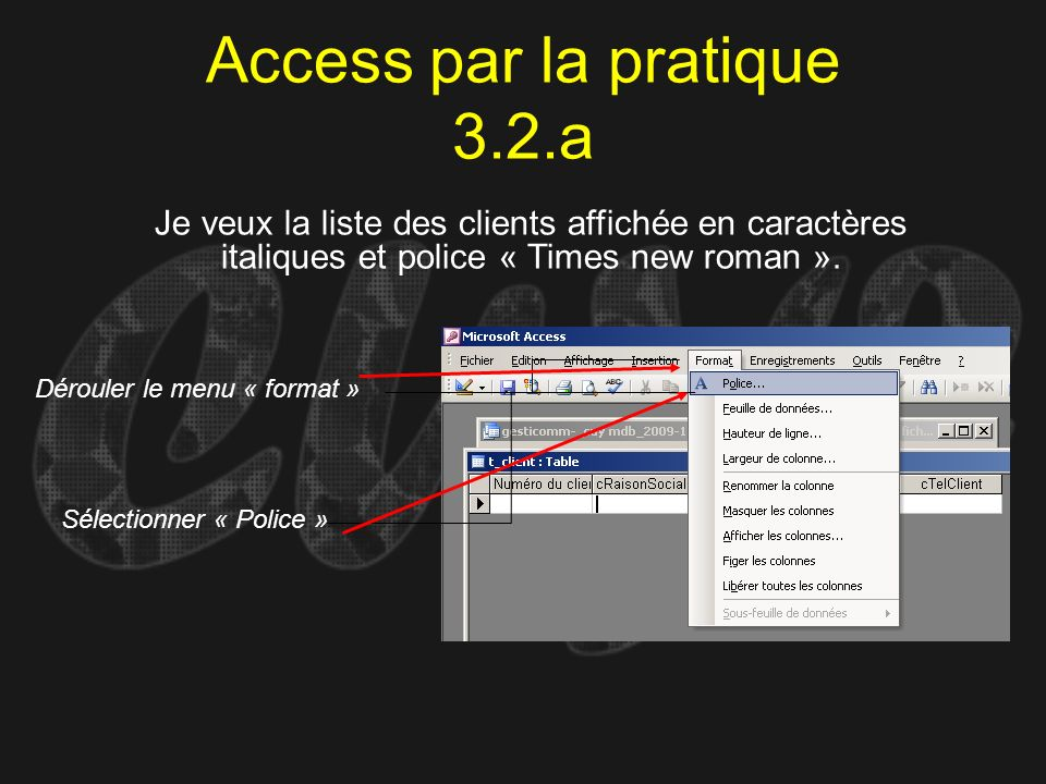 Access par la pratique 3.2.a