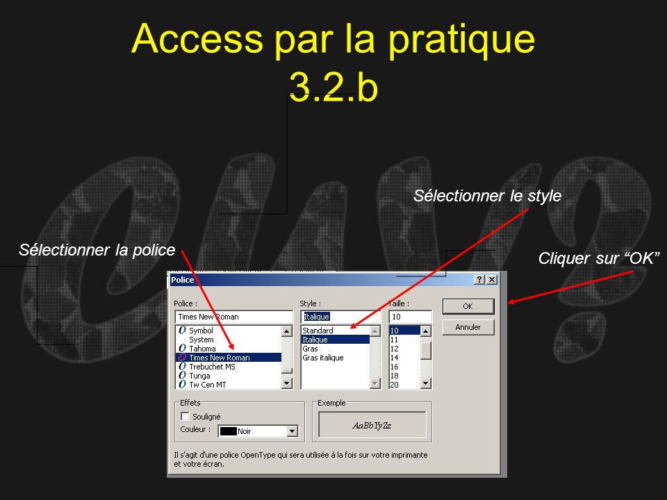 Access par la pratique 3.2.b