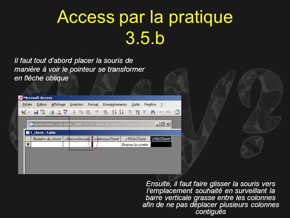 Access par la pratique 3.5.b
