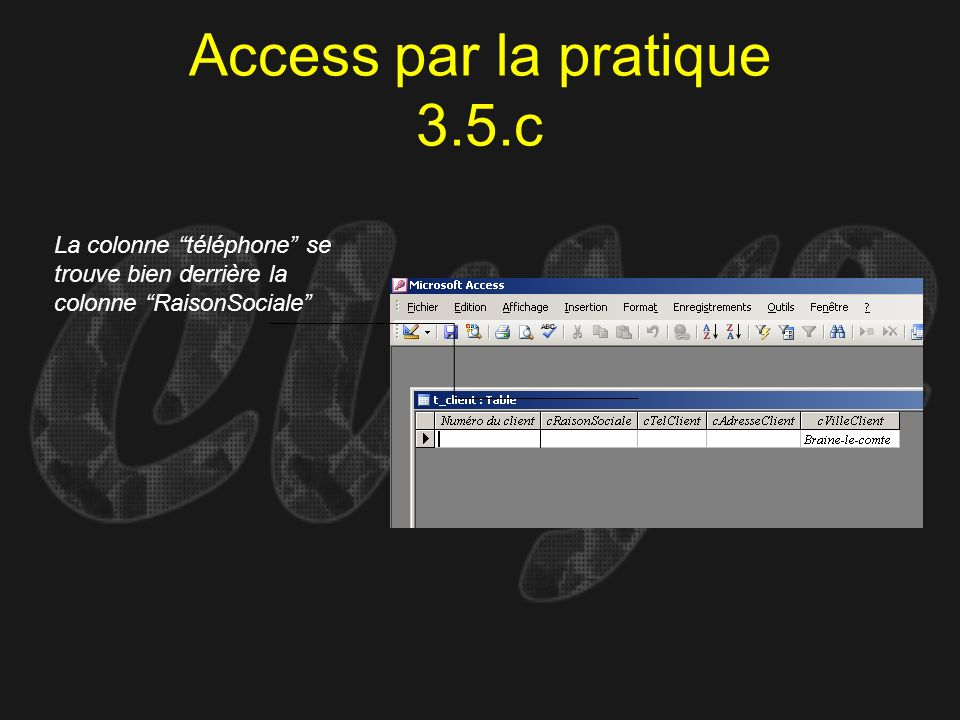 Access par la pratique 3.5.c