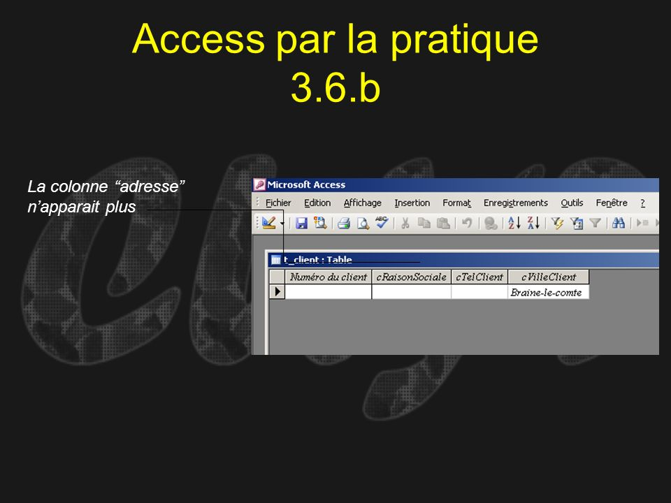 Access par la pratique 3.6.b