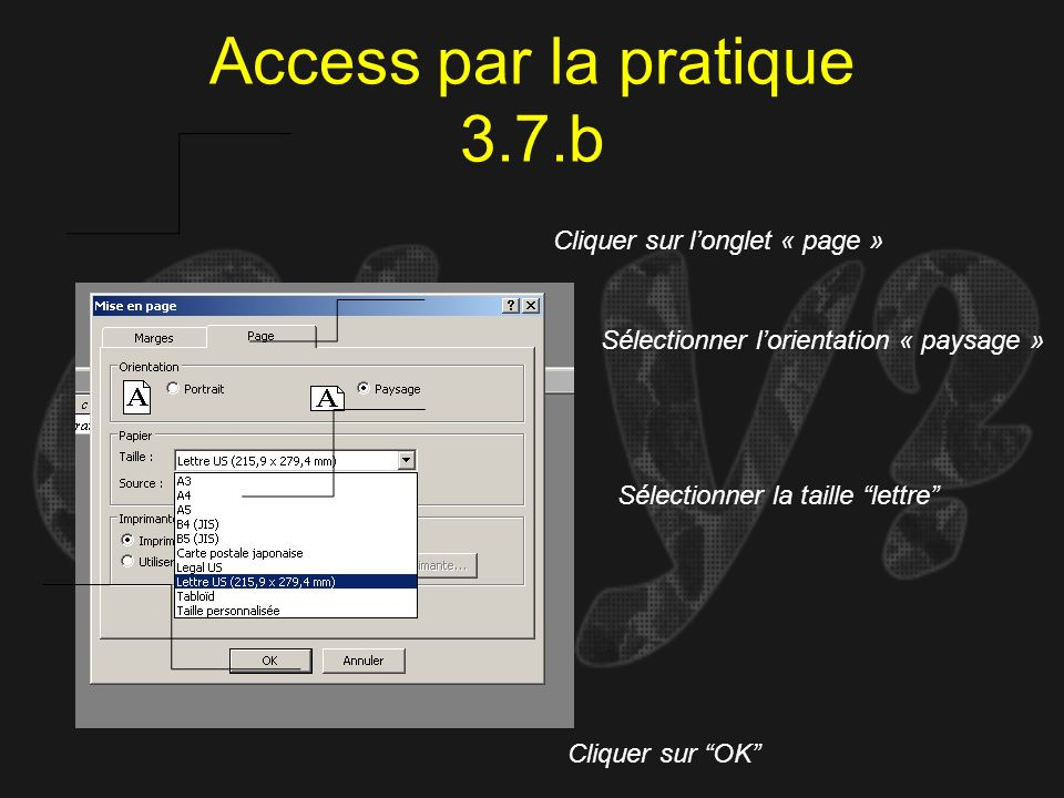 Access par la pratique 3.7.b
