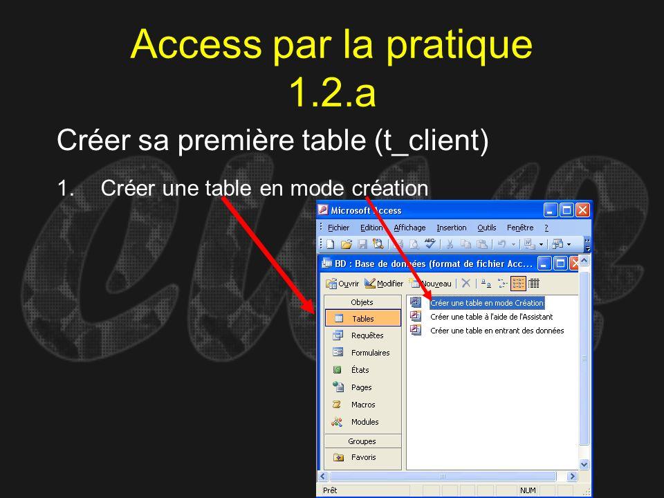 Access par la pratique 1.2.a