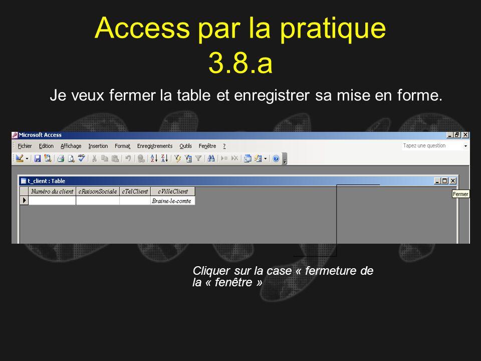 Access par la pratique 3.8.a