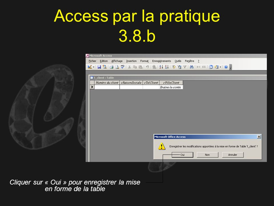 Access par la pratique 3.8.b