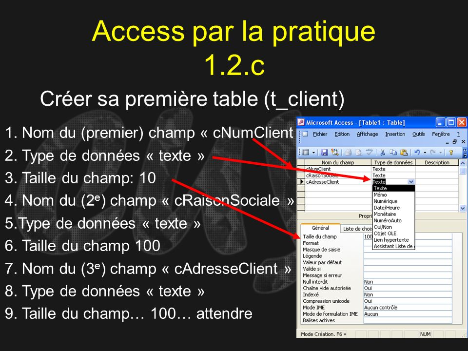 Access par la pratique 1.2.c