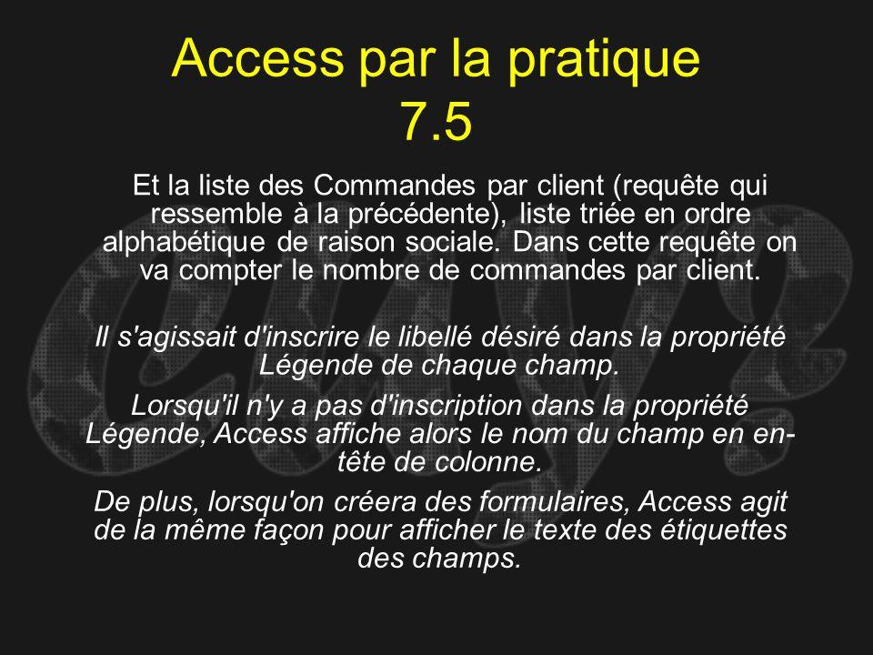 Access par la pratique 7.5