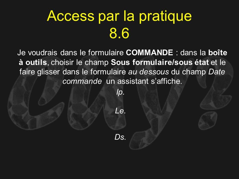 Access par la pratique 8.6