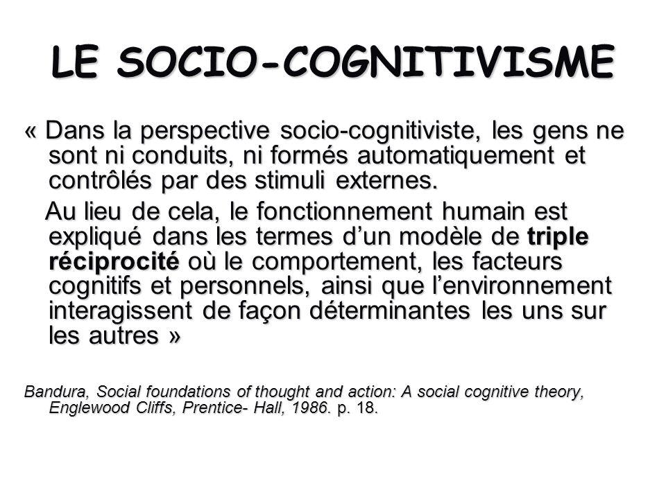 LE SOCIO-COGNITIVISME