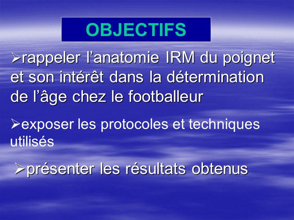 OBJECTIFS présenter les résultats obtenus