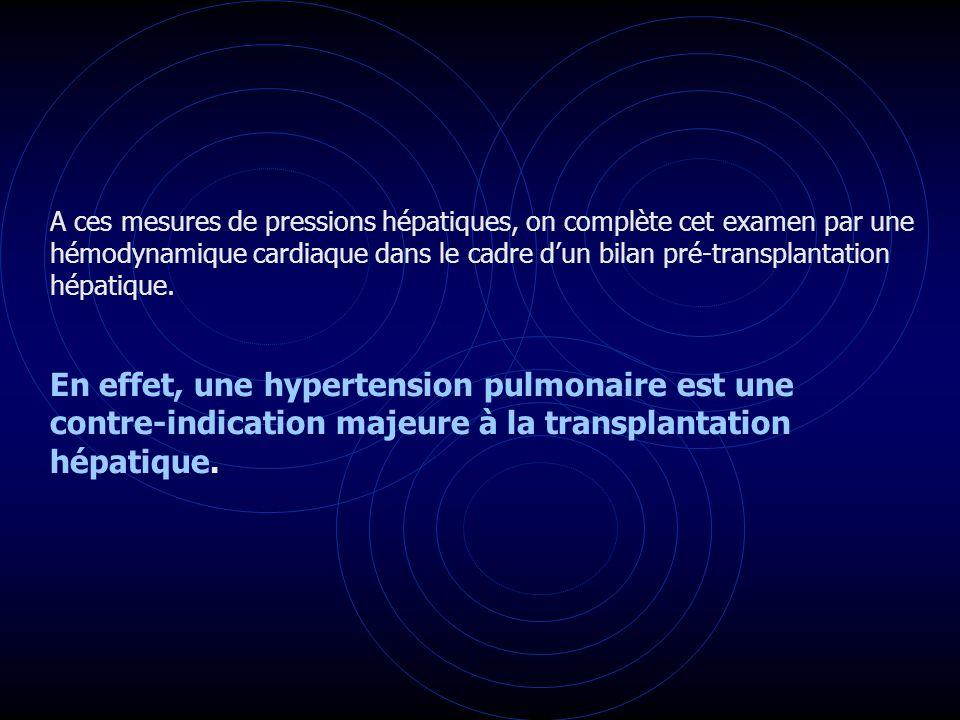 En effet, une hypertension pulmonaire est une