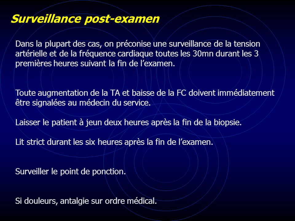 Surveillance post-examen