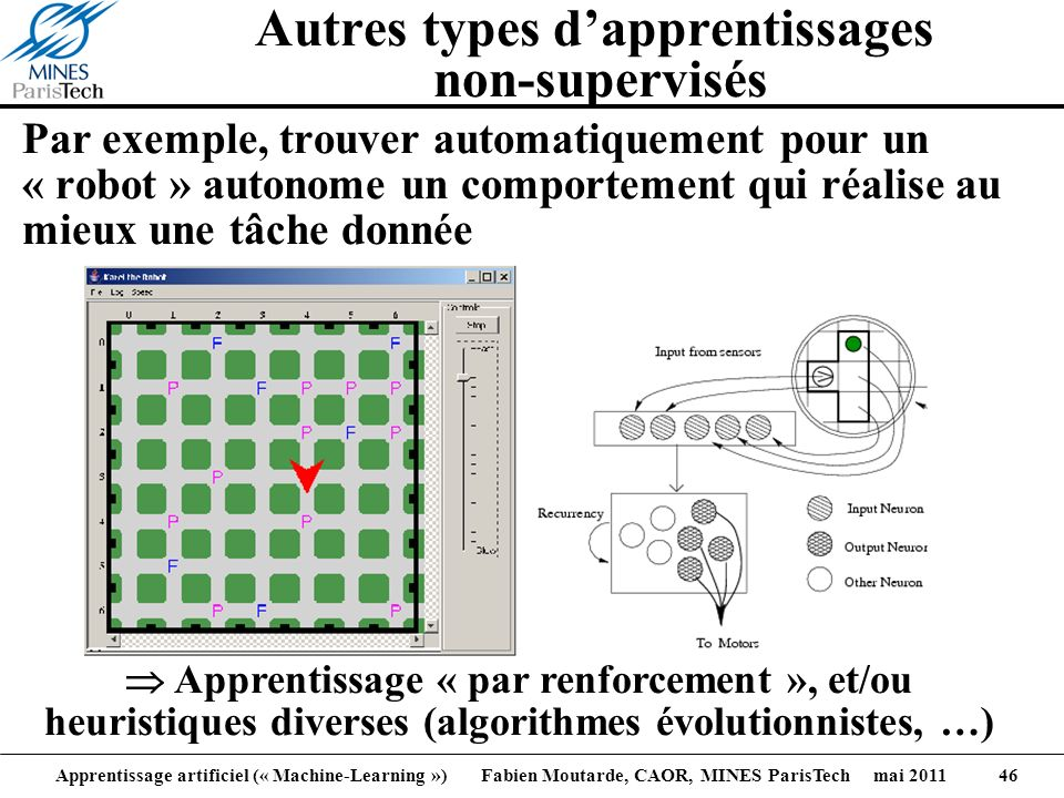 Autres types d'apprentissages non-supervisés