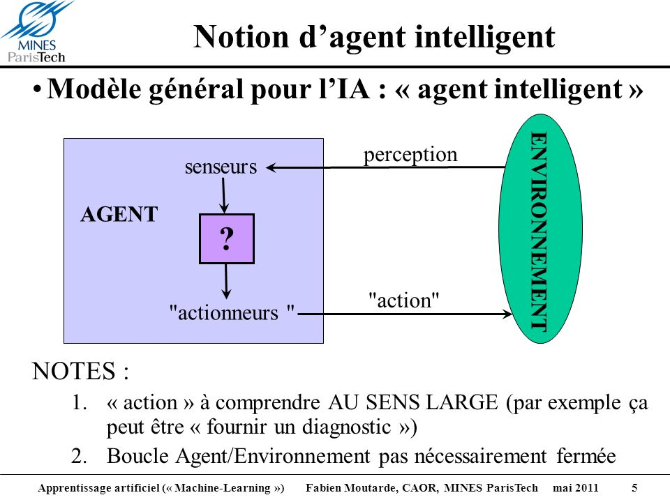 Notion d'agent intelligent