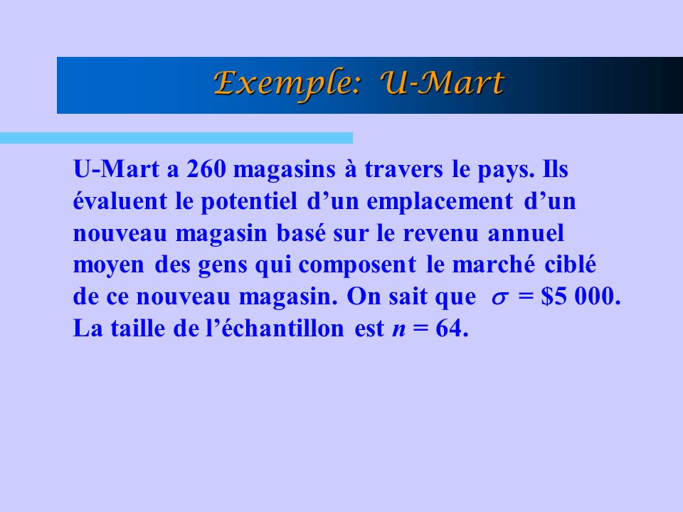 Exemple: U-Mart