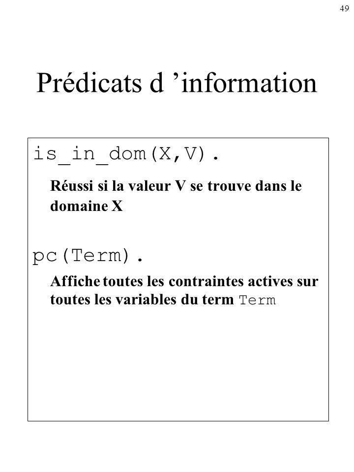 Prédicats d 'information
