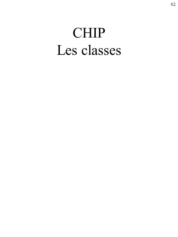 CHIP Les classes