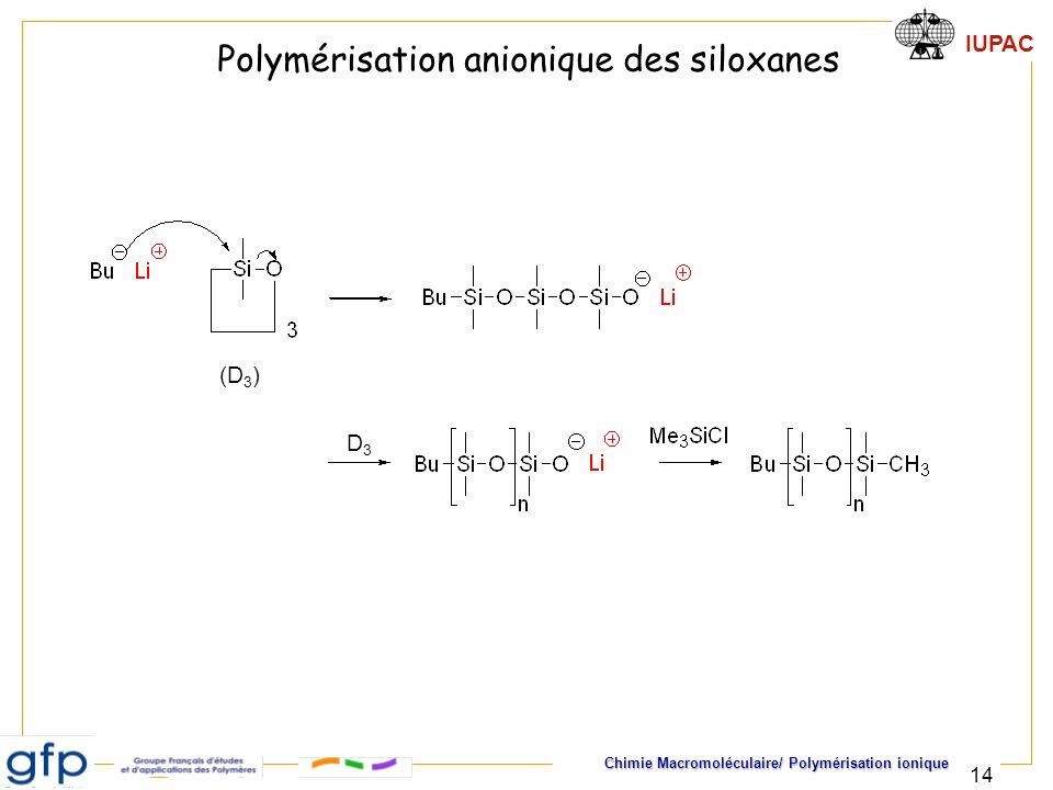 Polymérisation anionique des siloxanes