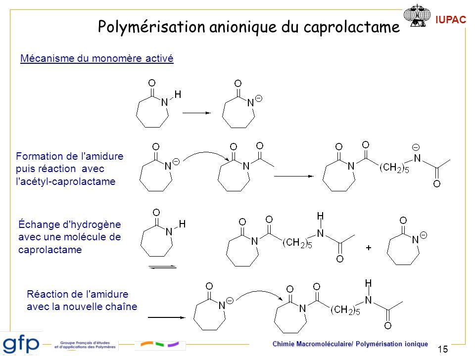 Polymérisation anionique du caprolactame