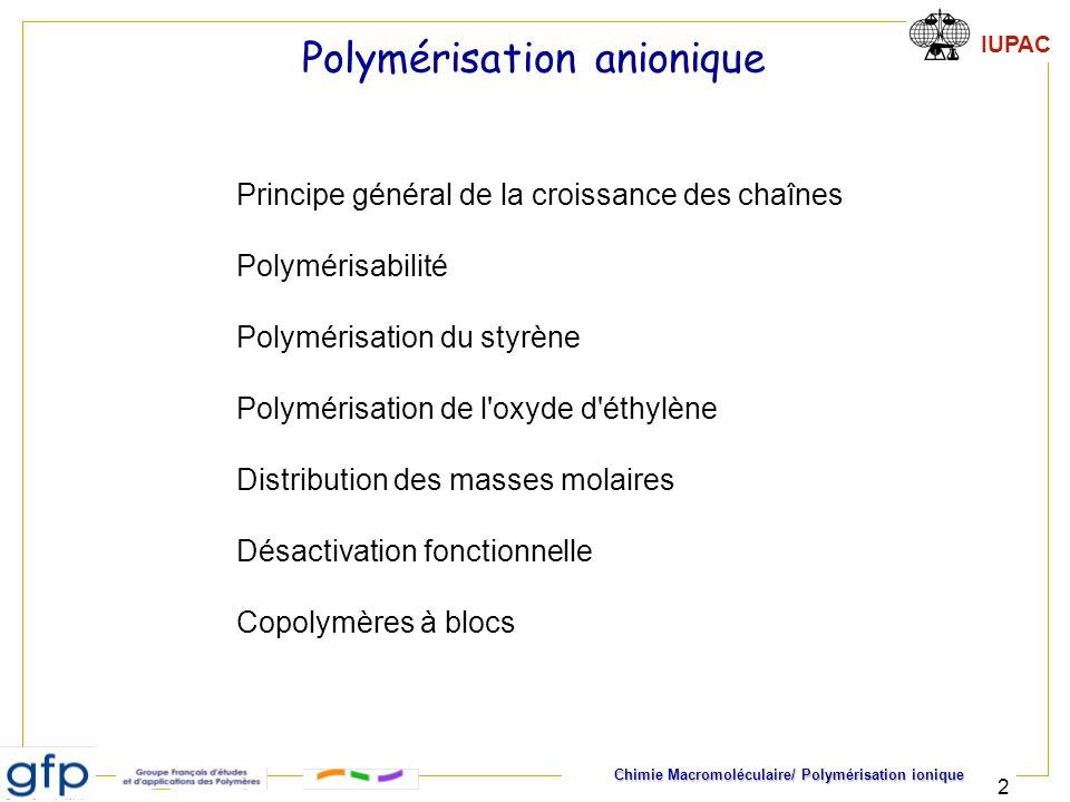 Polymérisation anionique