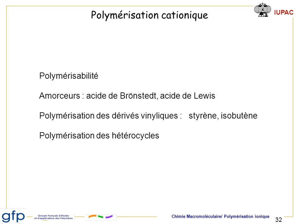 Polymérisation cationique