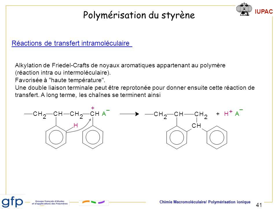 Polymérisation du styrène