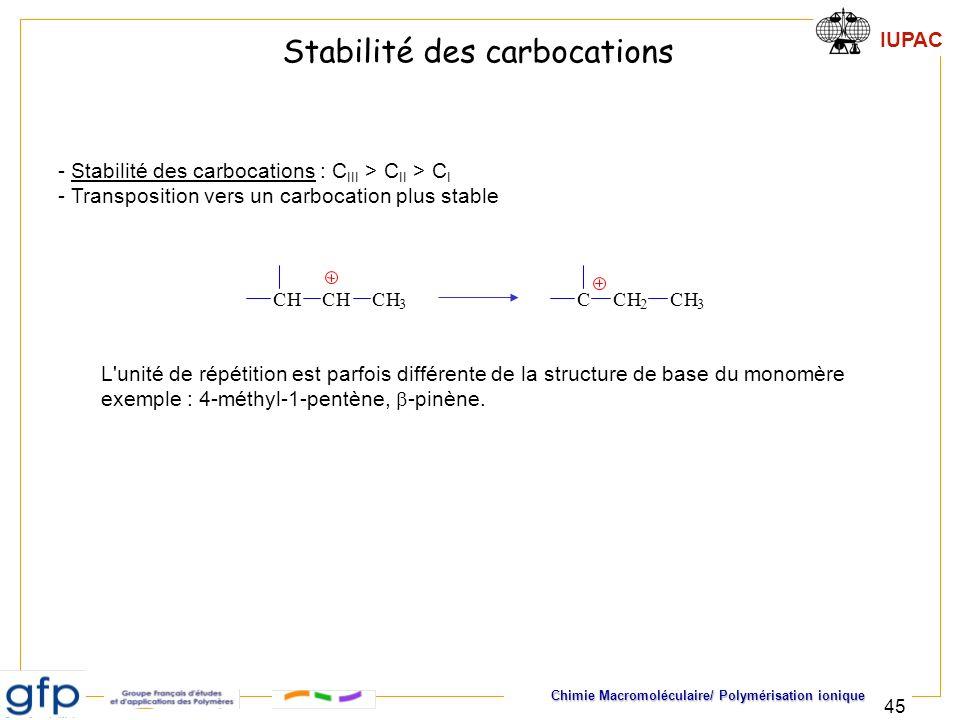 Stabilité des carbocations