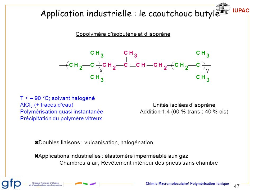 Application industrielle : le caoutchouc butyle