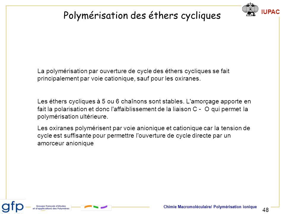 Polymérisation des éthers cycliques