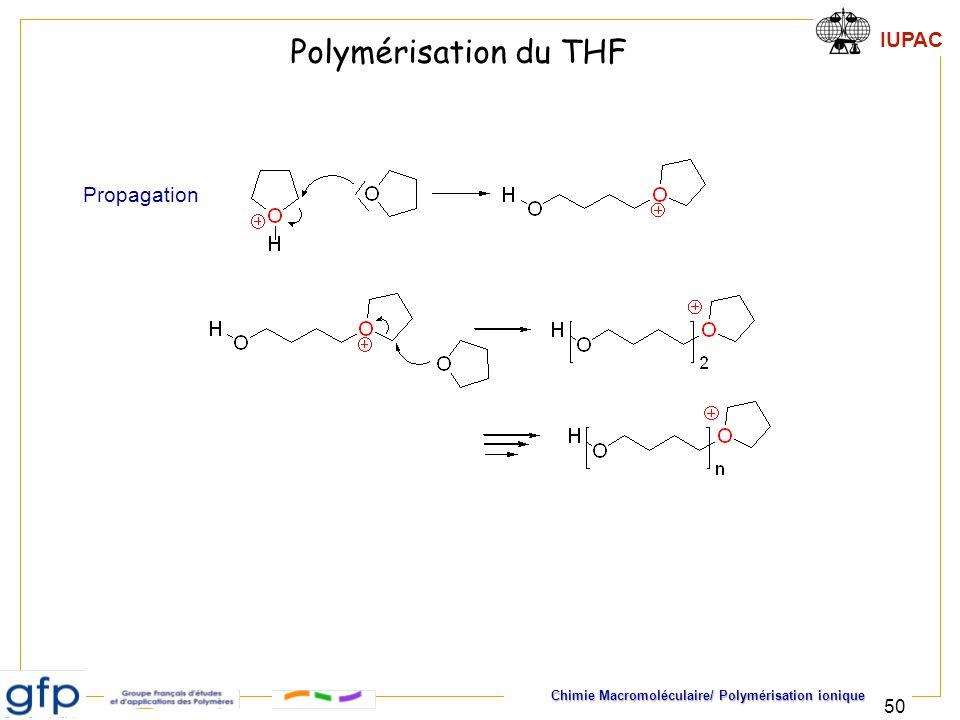 Polymérisation du THF Propagation
