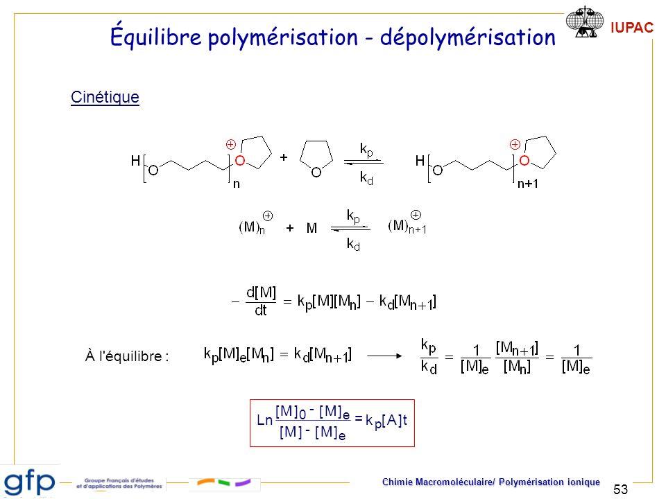 Équilibre polymérisation - dépolymérisation