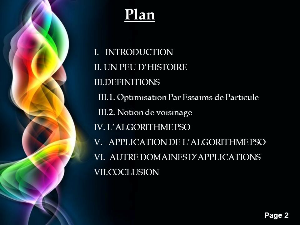 Plan I. INTRODUCTION II. UN PEU D'HISTOIRE III.DEFINITIONS