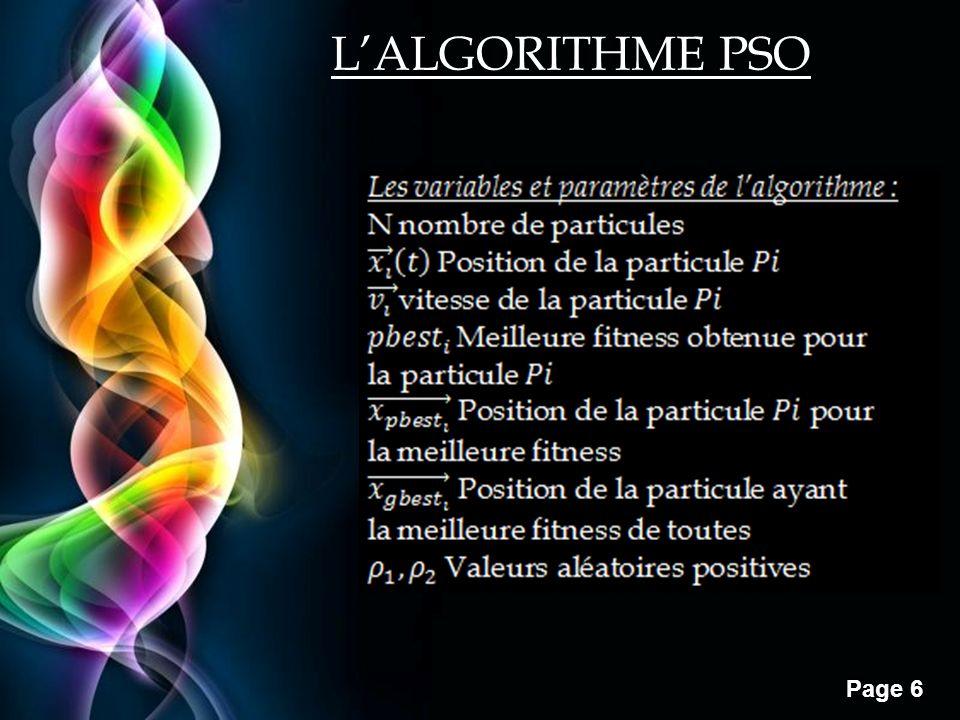 L'ALGORITHME PSO