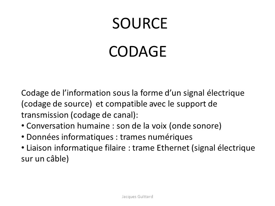 SOURCE CODAGE.