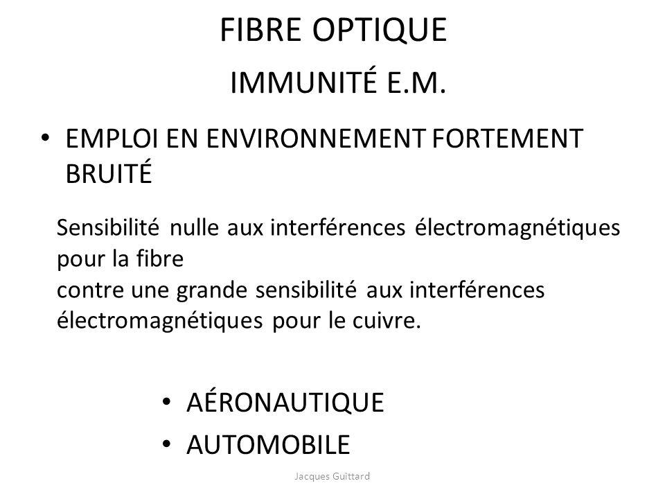 FIBRE OPTIQUE IMMUNITÉ E.M. EMPLOI EN ENVIRONNEMENT FORTEMENT BRUITÉ