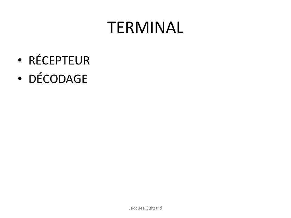 TERMINAL RÉCEPTEUR DÉCODAGE Jacques Guittard