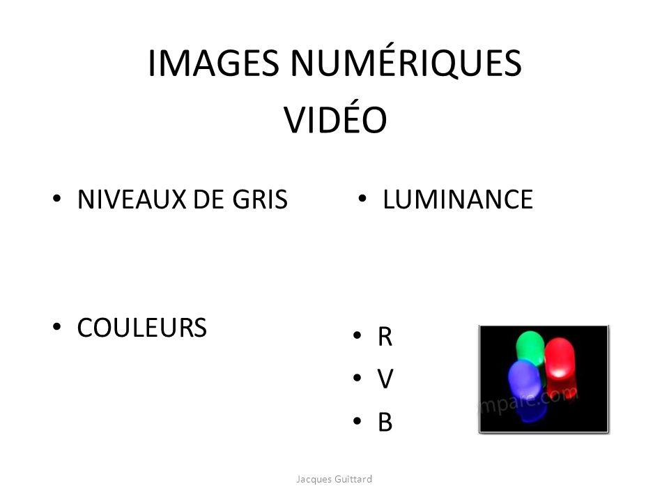 IMAGES NUMÉRIQUES VIDÉO NIVEAUX DE GRIS COULEURS LUMINANCE R V B