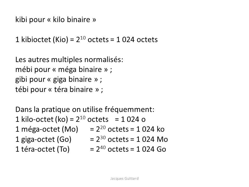 kibi pour « kilo binaire »