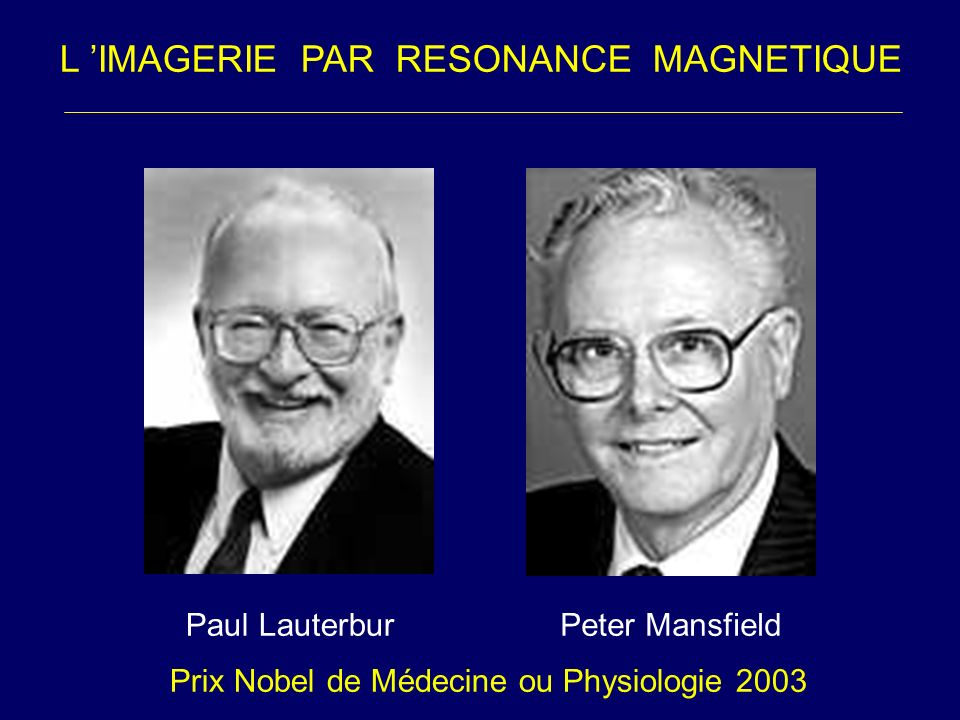 L 'IMAGERIE PAR RESONANCE MAGNETIQUE