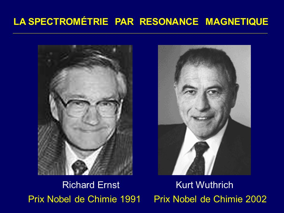 LA SPECTROMÉTRIE PAR RESONANCE MAGNETIQUE