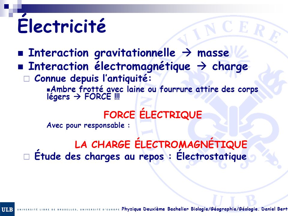 Électricité Interaction gravitationnelle  masse