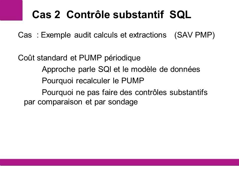 Cas 2 Contrôle substantif SQL