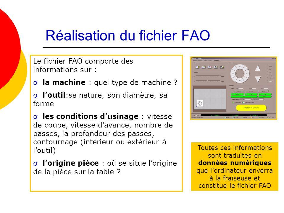 Réalisation du fichier FAO