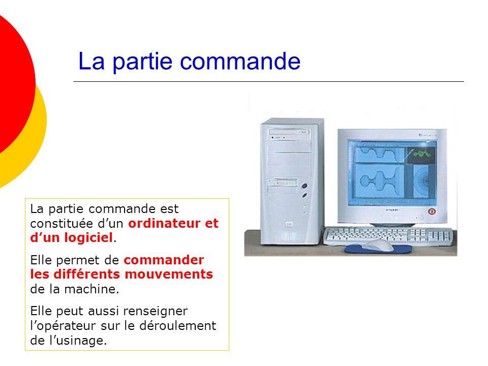 La partie commande La partie commande est constituée d'un ordinateur et d'un logiciel.