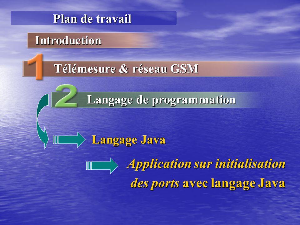 Application sur initialisation des ports avec langage Java