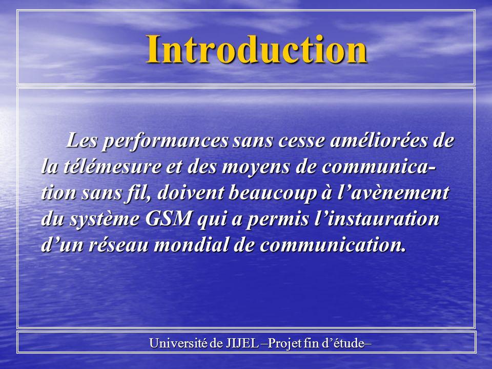 Université de JIJEL –Projet fin d'étude–